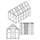 Zelsius 6 mm Ersatzplatten Set für Gewächshaus 06, Hohlkammerstegplatte aus Polykarbonat,...