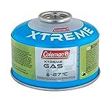 Coleman Gaskartusche C100 Xtreme, Ventil Gas Kartusche für Campingkocher, Gaskartusche mit...