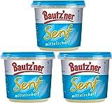 Bautzner Senf mittelscharf 3 X 200 ml Feinschmecker Senf