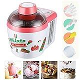2-in-1 Ice Cream Hersteller Maschine, 600ml Einfach Zu Bedienen DIY Eiscreme-Behälter Mit Eis Scoop...