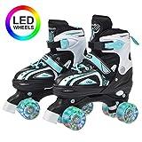 Apollo Super Quad X Pro, LED Rollschuhe für Kinder und Jugendliche, ideal für Anfänger,...