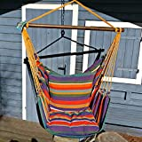 Holzenplotz Hängesessel Hängematte Hängestuhl aus Baumwolle mit 2 Kissen 3 Größen lieferb....
