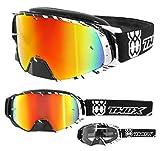 TWO-X Rocket Crossbrille Crush schwarz Weiss Glas verspiegelt Iridium MX Brille Nasenschutz...