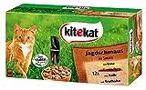 Kitekat Katzenfutter Frischebeutel Mix, Jagdschmaus in Sauce, Nassfutter Multipack für Katzen, 48 x...