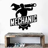 wZUN Mechaniker Schraubenschlüssel Silhouette Wandaufkleber Auto Auto Service Garage Dekoration...