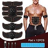 FYLINA Muskelstimulation EMS Muskelstimulator Bauchmuskeltrainer USB Wiederaufladbar...