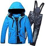 Outdoor Skianzug Herrenanzug Winddicht, Wasserdicht, Warm, Atmungsaktiv, Snowboard, Snowboard, Hose,...