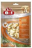 8in1 Delights Chicken Kauknochen XS, gesunder Kausnack fr sehr kleine Hunde, 21 Stck (252 g)
