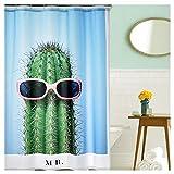 NoNo 3D-Digitaldruck Duschvorhang fr das Badezimmer mit sen aus Edelstahl leicht zu dehnen mit 12...