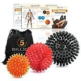 5BILLION Massagebälle - Mobility Bälle & Lacrosse Bälle für die Physiotherapie - Hochdichte...