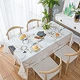 Asvert PVC Tischdecke Rechteckig Tischdecke Abwaschbar für Küche Esstisch Kunststoff...