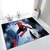 Tengda Kinderteppich Spiderman Far von zu Hause aus Schaffell Teppich Iron Man Captain Thor Hulk...