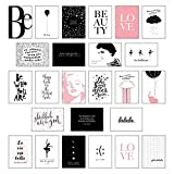 Schönes Postkarten Set mit 25 modernen und stylishen Postkarten zum Dekorieren oder Verschenken....