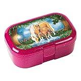 Mauder Verlag 10661 TapirElla Glitzer-Lunchbox Pferdezauber, aus Kunststoff, Brotdose mit Gemüse-...