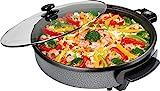 Clatronic PP 2914 Partypfanne zum Kochen, Braten, Dünsten, Auftauen und Warmhalten, 1400 Watt