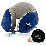 Hybrid-Nackenkissen von FLOWZOOM® | Reise-Nackenkissen aufblasbar mit Memory-Foam| Nackenhörnchen...