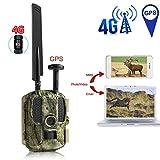 GPS-Jagd-Kamera, 4G FDD-LTE Tier-Kamera-1080P Video Foto-Fallen Trail-Kamera mit 2-Zoll-Bildschirm,...