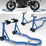 BITUXX Motorradstnder hinten & vorn Motorrad Montagestnder Transportstnder Blau Belastbar bis 250 kg...