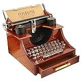 jieGorge Spieluhr  Mini Retro Kreative Schreibmaschine Uhrwerk Spieluhr Spaß Interessantes...