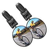 2 STÜCKE Fahrradspiegel Rückspiegel, 360°Drehbar Lenkerspiegel Weitwinkelobjektiv, Sicherer...