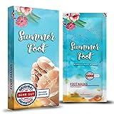 SUMMER FOOT Premium Fußmaske zur Entfernung von Hornhaut I Samtweiche und zarte Füße nach nur...