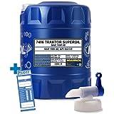 MANNOL 20L Traktor Superoil Motorenöl 15W-40 API SG/CD Motoröl 20 Liter + Auslaufhahn