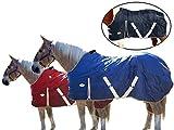 Derby Originals Pferde-Stalldecke, atmungsaktiv, wasserabweisend, Nylon, schwer, Winterdecke, rot,...