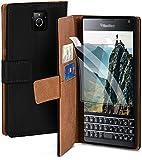 moex Handyhülle für BlackBerry Passport - Hülle mit Kartenfach, Geldfach und Ständer,...