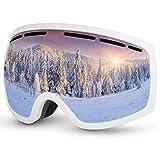 Baban Skibrille, Schutzbrille zum Skifahren, UV-Schutz, Anti-Fog, Snowboardbrille Kompatibel mit...