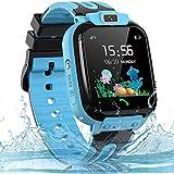 Smartwatch Kinder Uhr Telefon Kinder Smartwatch mit LBS Tracker Voice Chat, wasserdichte Kids Smart...