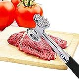 ALEENFOON Fleischklopfer Edelstahl Fleischhammer Metall mit zwei Bearbeitungsflächen...