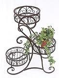 DanDiBo Blumentreppe Metall Braun Rund 65 cm mit 3 Körbe Blumenständer 12556 Beistelltisch...
