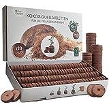 OwnGrown Kokos Quelltabletten mit Nährstoffen: 120 Premium Quelltabs aus Anzuchterde torffrei, ohne...
