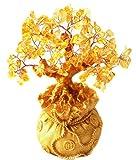 Itian Geldbaum in Einem Sack Vll Geld, fr Reichtum Glck, Ideal fr die Dekoration (Gelb)