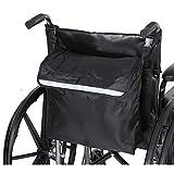 PERFETSELL Rollstuhltasche Hinten Wasserdicht Oxford Rollstuhl Tasche Groß Schwarz Rollstuhl...
