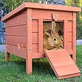 zooprinz großes Kleintierhaus mit klappbarem Dach – perfekt für draußen und drinnen –...