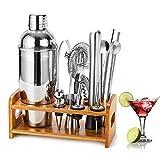 HB life Cocktail-Set Cocktailshaker Geschenk Edelstahl 15-teiliges Cocktail Bar Set mit verbessertem...