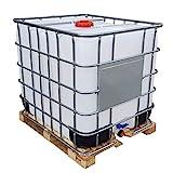 KLAREWO 1000l IBC Container Wassertank Regenwassertank Tank auf Holzpalette GESPÜLT