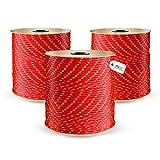 DQ-PP POLYPROPYLENSEIL | 5mm | 20m | ROT Polypropylen Seil | Tauwerk PP Flechtleine Textilseil...