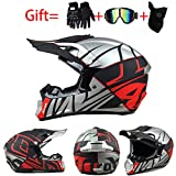 ZJRA Motocross Helm, Erwachsener Voller Gesichts Motorradhelm, Sturzhelm Motorrad Off Road Helm...