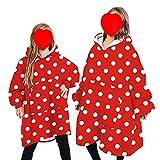 Wearable Blanket Sweatshirt Hoodie für Damen und Herren Oversized Plüsch Cartoon Kapuzenoberteil...
