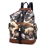 DAVIDNILE Wanderrucksack aus Segeltuch für Damen, Herren, Laptop-Tasche, Rucksack für Jungen,...