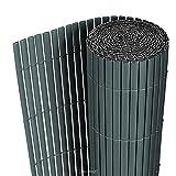 [neu.haus] PVC Sichtschutzmatte 200x300cm grau Sichtschutz Windschutz Gartenzaun Balkon Umspannung...