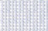 KwikCaps PVC Alpinweiss Selbstklebende Schrauben-Abdeckungen Abdeckkappen Nägel Cam flach [126 Stk....
