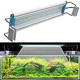 WYRX Dünne LED-Aquarium-Beleuchtung Wasserpflanzen-Licht 18-75CM Dehnbare wasserdichte Klipp auf...