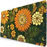 1960 'Mit Flower Personalized Mouse Pad mit Kantenstich Extra Long Mouse Pad (29,5 x 15,8 Zoll),...
