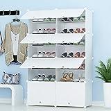 JOISCOPE PREMAG Portable Schuhablage Organizer Tower, weiß, modulare Schrankregal für...