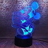 3D Illusion Led Nachtlicht, Se Maus Nachtlichter Fr Kinder 16 Farben Allmhlich Wechselnde Touch...