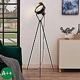 Lindby Stehlampe 'Wikie' (Vintage, Industriell) in Schwarz aus Metall u.a. für Wohnzimmer &...