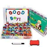 MelkTemn Magnetische Buchstaben und Zahlen set-227pcs, Lernspielzeug für Kinder mit Magnetplatte,...